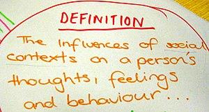A photograph of a hand-written, student-genera...