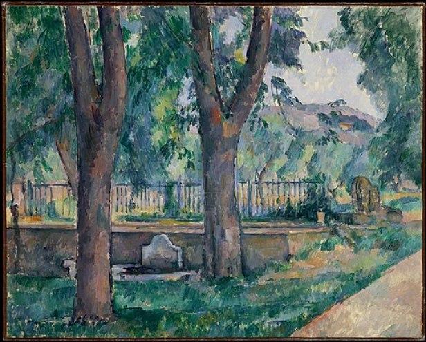 """""""The Pool at the Jas de Bouffan"""" by Paul Cézanne"""