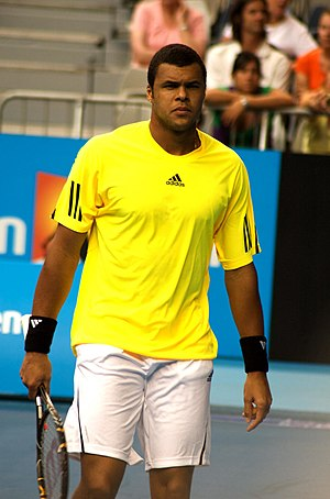 Jo-Wilfried Tsonga at 2009 Australian Open, Me...
