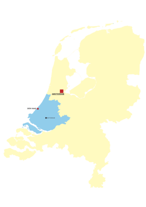 Map of Provinces of Netherland: Zuid-Holland