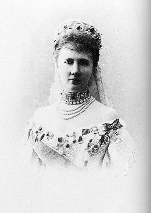 English: Elizaveta Mavrikievna married in 1884...
