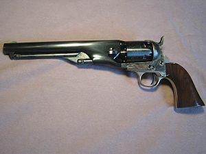 English: 1861 Colt Navy Revolver, Second Gener...