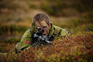 English: Sniper-soldier from the Second Batall...