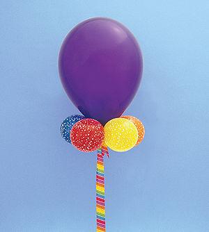 "purple latex balloon 24"" in diameter with..."