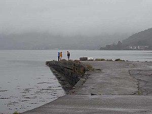 English: A dreich day Bonawe jetty on Loch Etive.