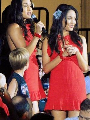 The Bella Twins (Nikki and Brie; real names Ni...