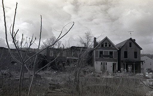 Condemned houses in Braddock, Pennsylvania