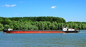 Danube barge, Braila, Romania