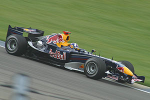 David Coulthard driving for Red Bull Racing at...