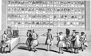 Print representing a Scene of Freemasonry.