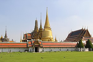 Grand Palace with Temple of the Emerald Buddha...