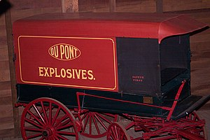 Original DuPont gunpowder wagon at Hagley Muse...