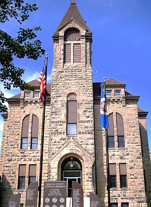 English: Houston, Minnesota County Courthouse