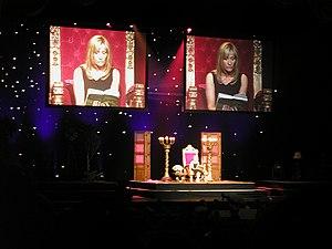 JK Rowling reading at Radio City Hall, New York.