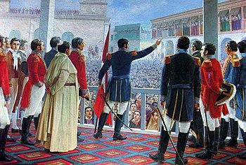El primer mensaje a una Nación que se formó de un naciente Estado