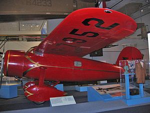 This red Lockheed Vega 5b was flown by Amelia ...