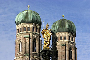 English: Munich – Maria column in the Marienpl...