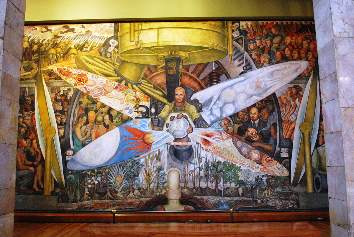 Palacio de Bellas Artes - Mural El Hombre in cruce de caminos Rivera 4.jpg