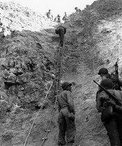 Normandy Invasion, June 1944 U.S. Army Rangers...