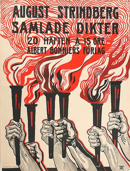 Utställningsaffisch: August Strindberg samlade dikter