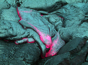 Underwater lava flow, off Hawaii