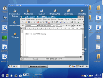 This (german) screenshot shows: KDE 3.5 (scree...