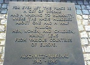 The English-language memorial in Auschwitz-Bir...