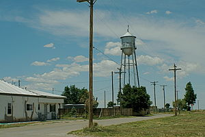 Water tower in Estancia, New Mexico