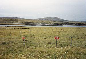 1982 Argentine minefield at Port William, Falk...