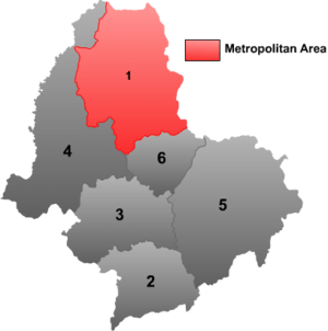 English: Map of Heihe prefecture in Heilongjia...