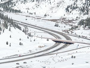 View of I-70 as it turns North at Copper Mount...