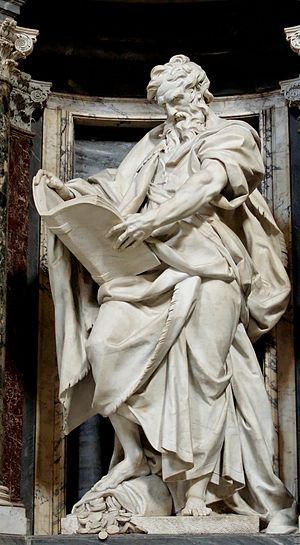 St. Matthew by Camillo Rusconi. Nave of the Ba...