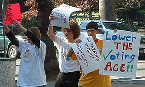 NYRA Berkeley Voting Age Protest