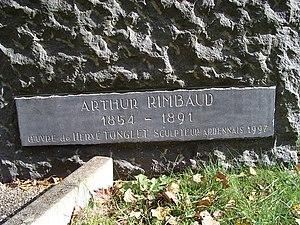 Détail statue Arthur Rimbaud