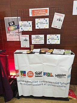 Printemps des assoces 2019 collectif éducation contre les LGBTphobies en milieu scolaire