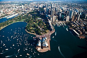 English: Sydney Opera house celebrating Jessic...