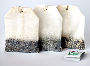 Three different tea bags
