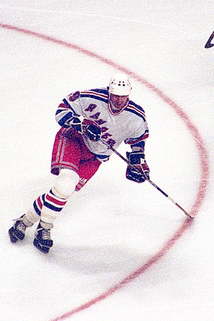 Ice hockey player Wayne Gretzky, Chicago, Illinois