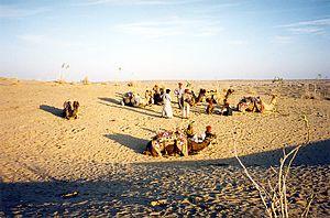 Desert tribes living in the Thar Desert near J...