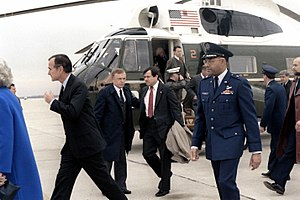 English: Vice President George Bush and other ...
