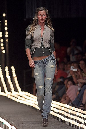 Brazilian model Gisele Bündchen at the Fashion...
