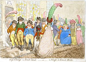 In High-Change in Bond Street (1796), James Gi...