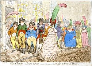 In High-Change in Bond Street (1796), James Gi...