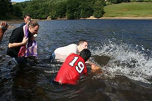 An evangelical Protestant Baptism by submersio...