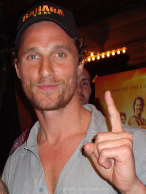 English: Matthew McConaughey at the March 2005...