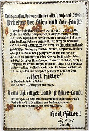 Appeal by Fritz Sauckel to show gratitude by u...