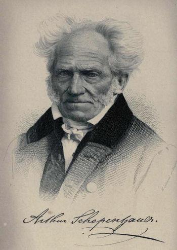 English: Print of the philosopher Arthur Schop...