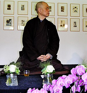 Thich Nhat Hanh in Vught, the Netherlands, 2006