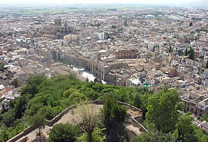 View of Granada from Alhambra, Spain