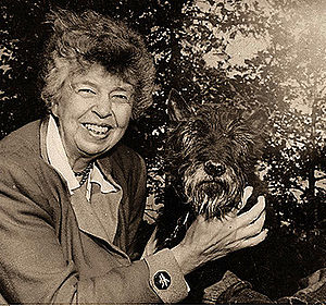 Eleanor Roosevelt with Fala